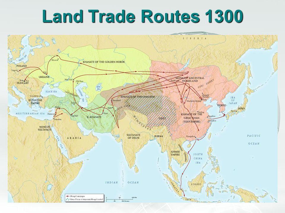 Land Trade Routes 1300