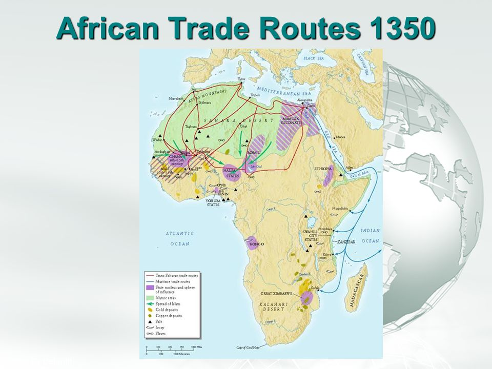 African Trade Routes 1350