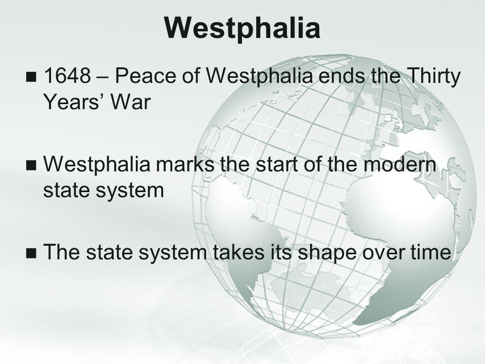 Westphalia 1648 – Peace of Westphalia ends the Thirty Years' War