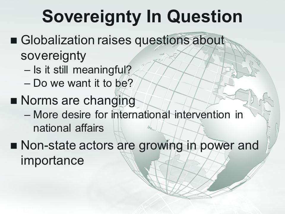 Sovereignty In Question