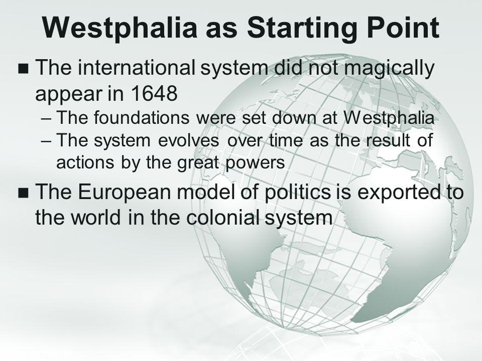 Westphalia as Starting Point