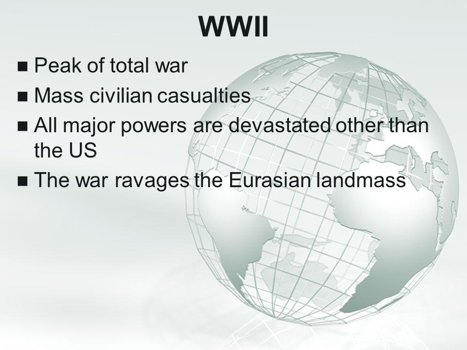 WWII Peak of total war Mass civilian casualties