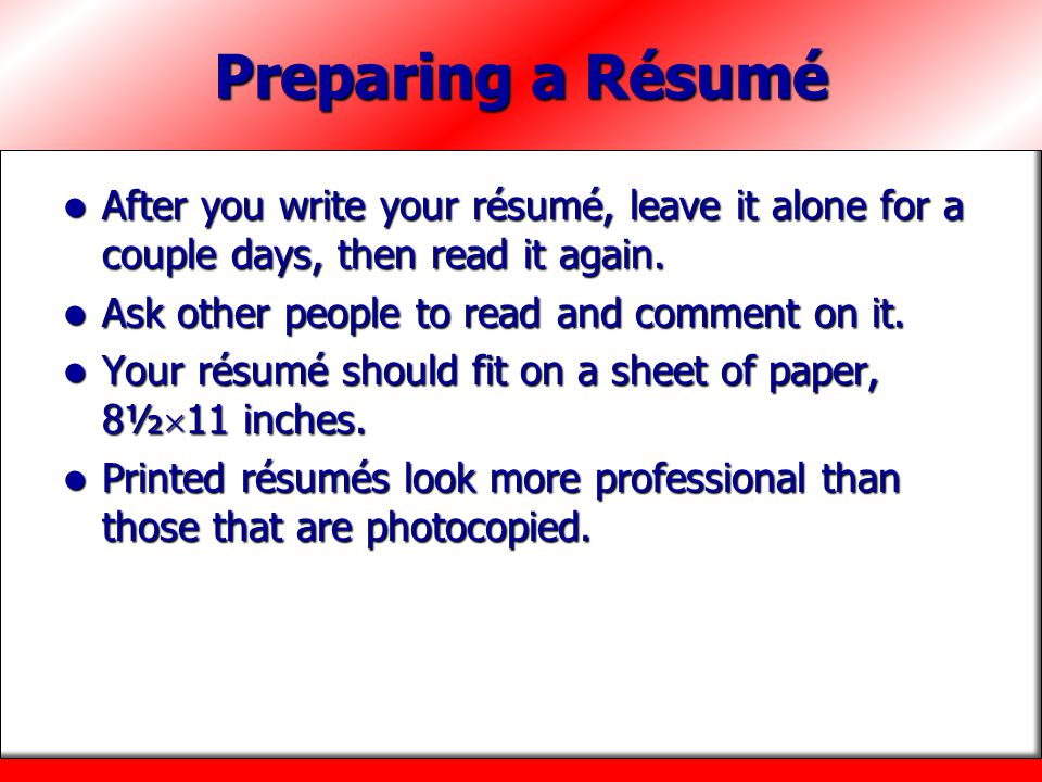 how to ask someone to read your resume