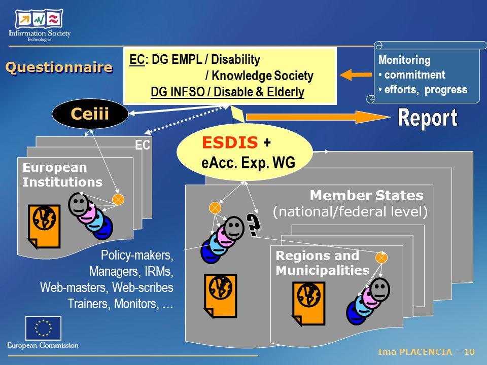 Ceiii Report ESDIS + eAcc. Exp. WG