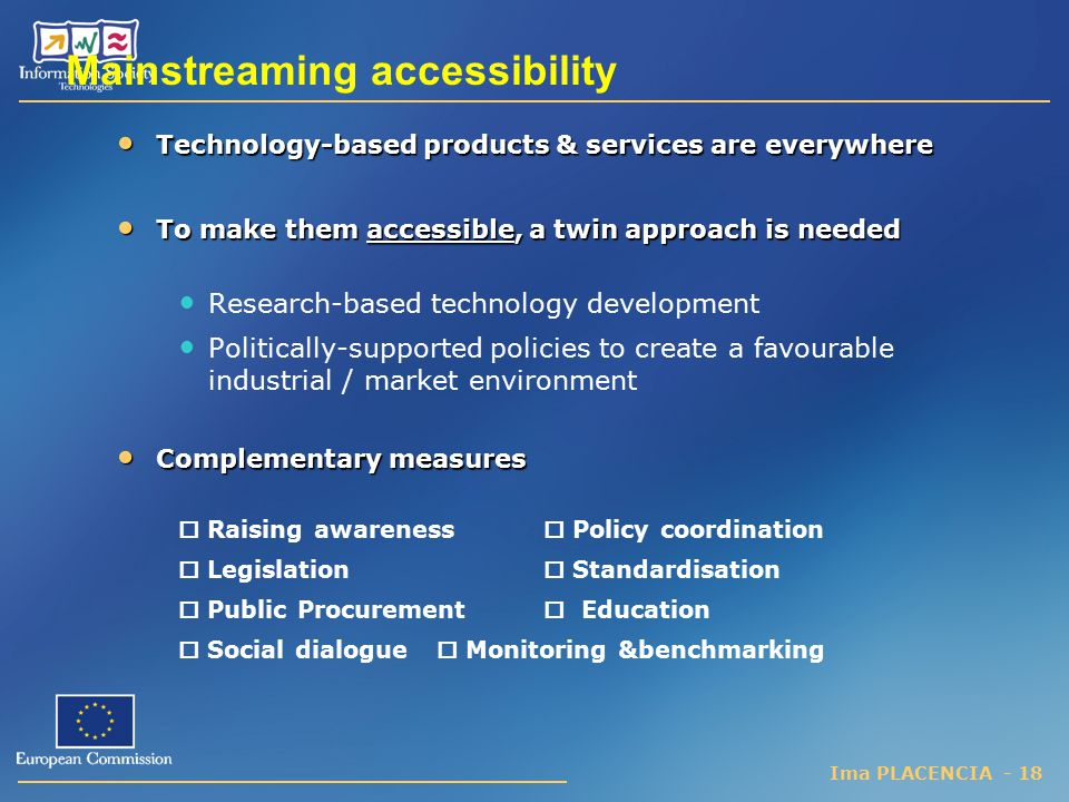 Mainstreaming accessibility