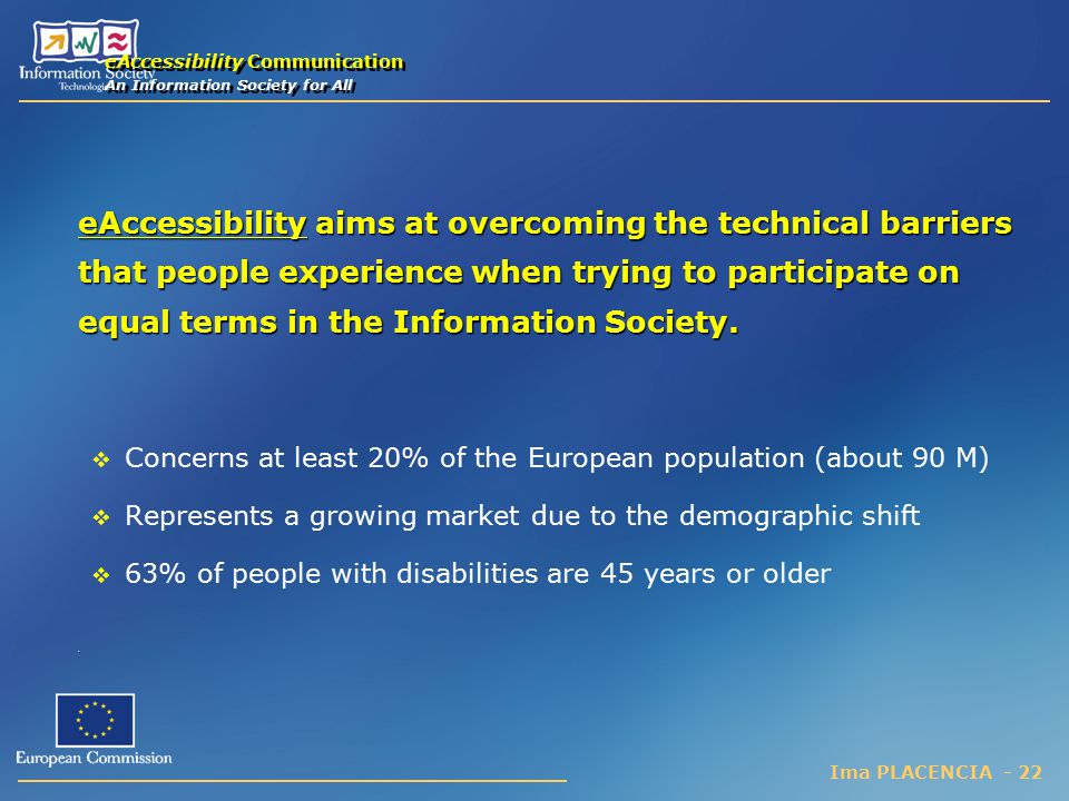 eAccessibility Communication An Information Society for All