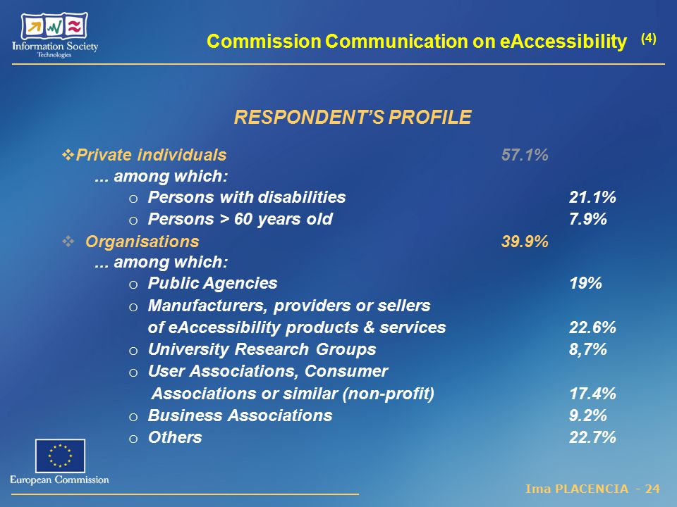 Commission Communication on eAccessibility (4)