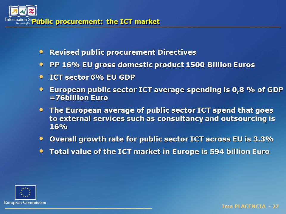 Public procurement: the ICT market