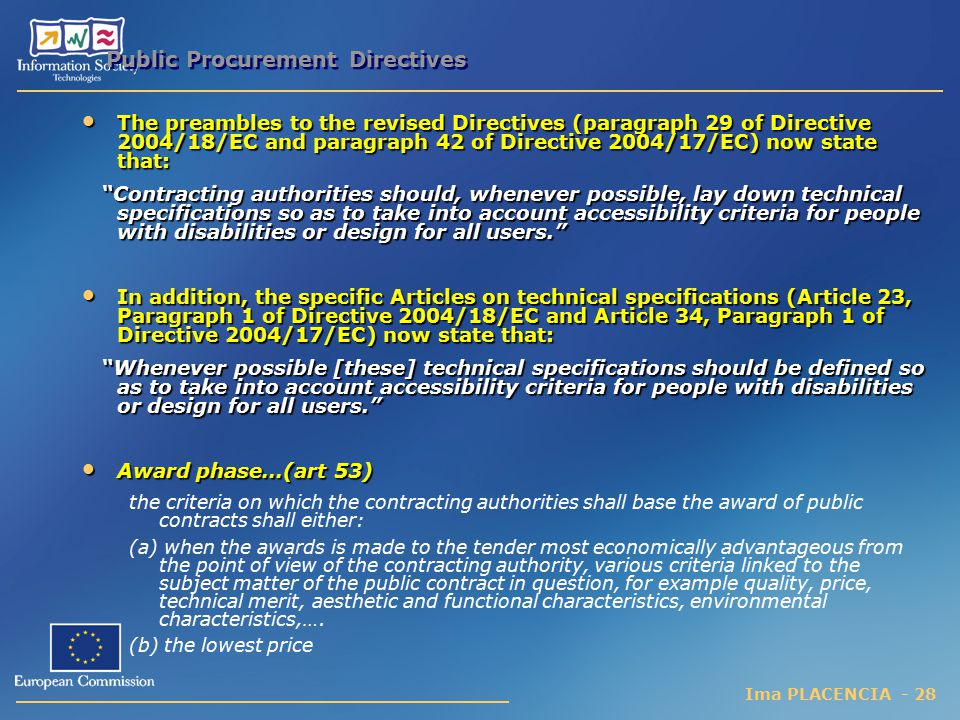 Public Procurement Directives