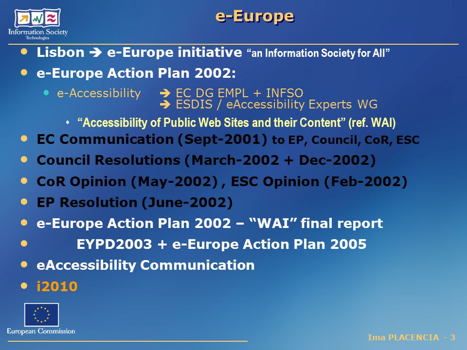 e-Europe Lisbon  e-Europe initiative an Information Society for All