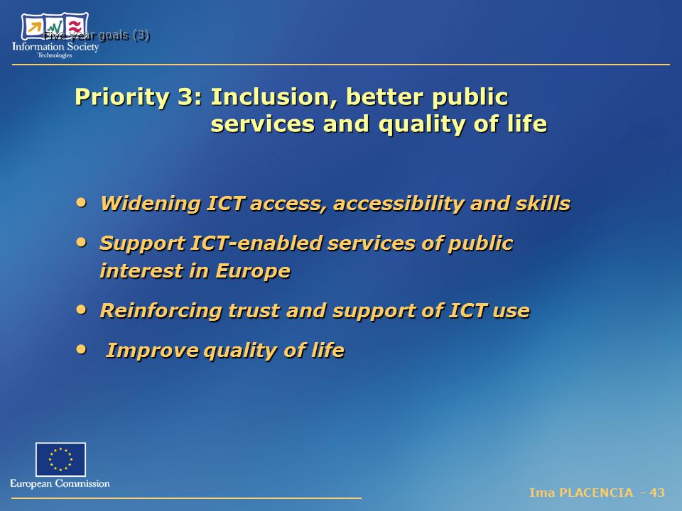 Priority 3: Inclusion, better public services and quality of life