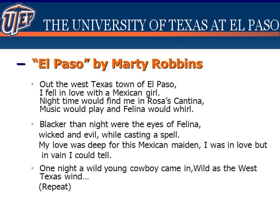 – El Paso by Marty Robbins