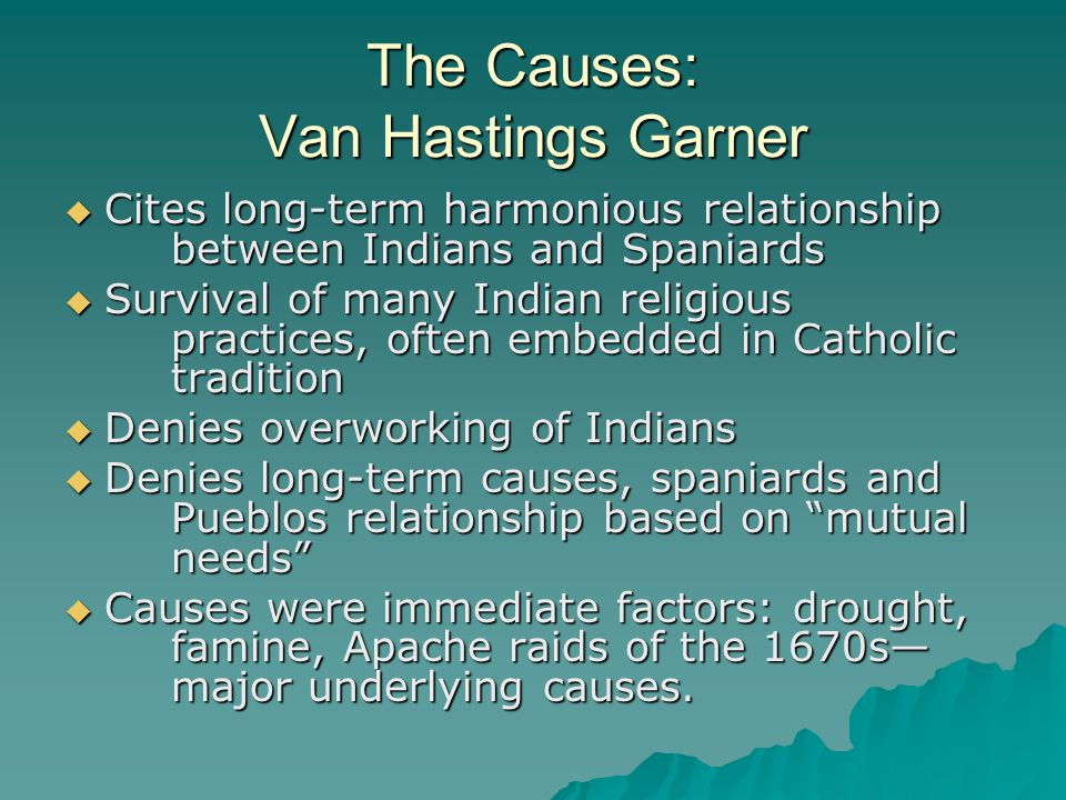 The Causes: Van Hastings Garner