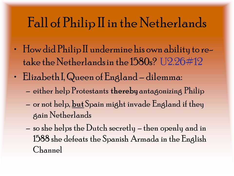Fall of Philip II in the Netherlands