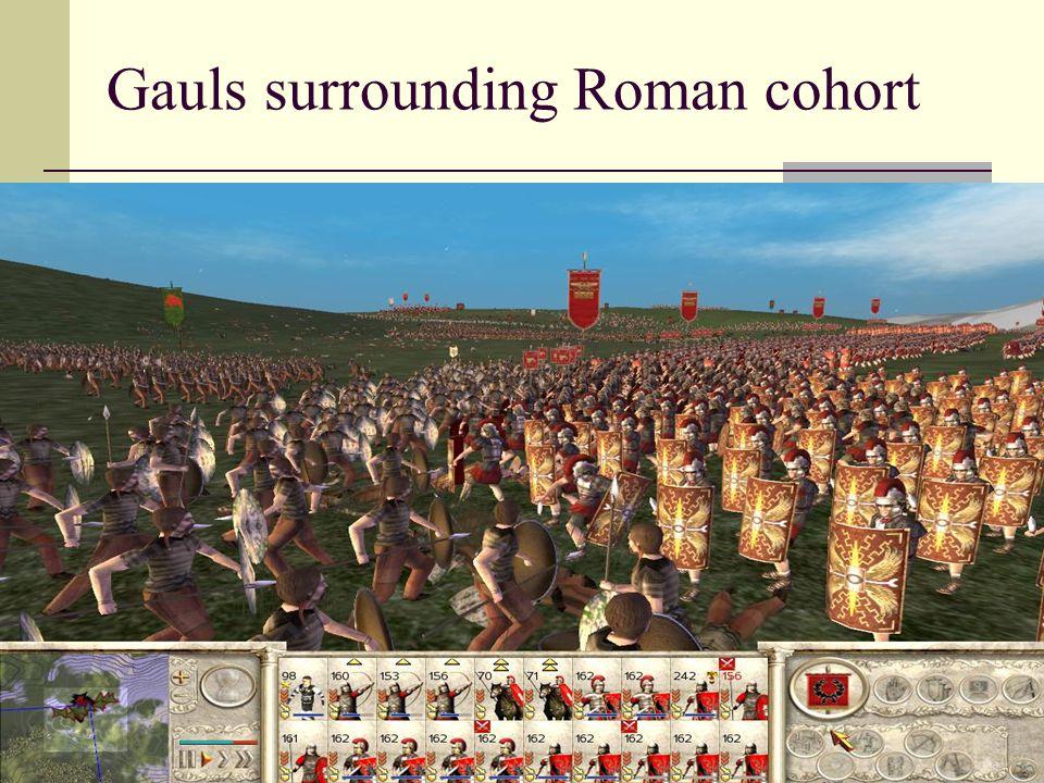 Gauls surrounding Roman cohort