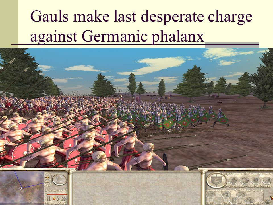 Gauls make last desperate charge against Germanic phalanx