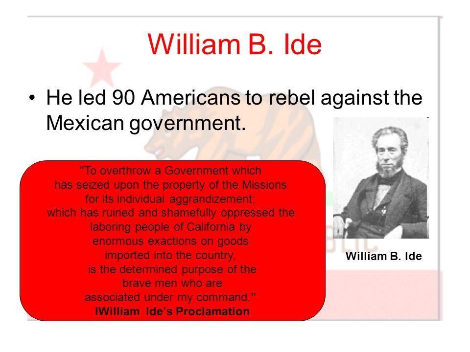 IWilliam Ide's Proclamation