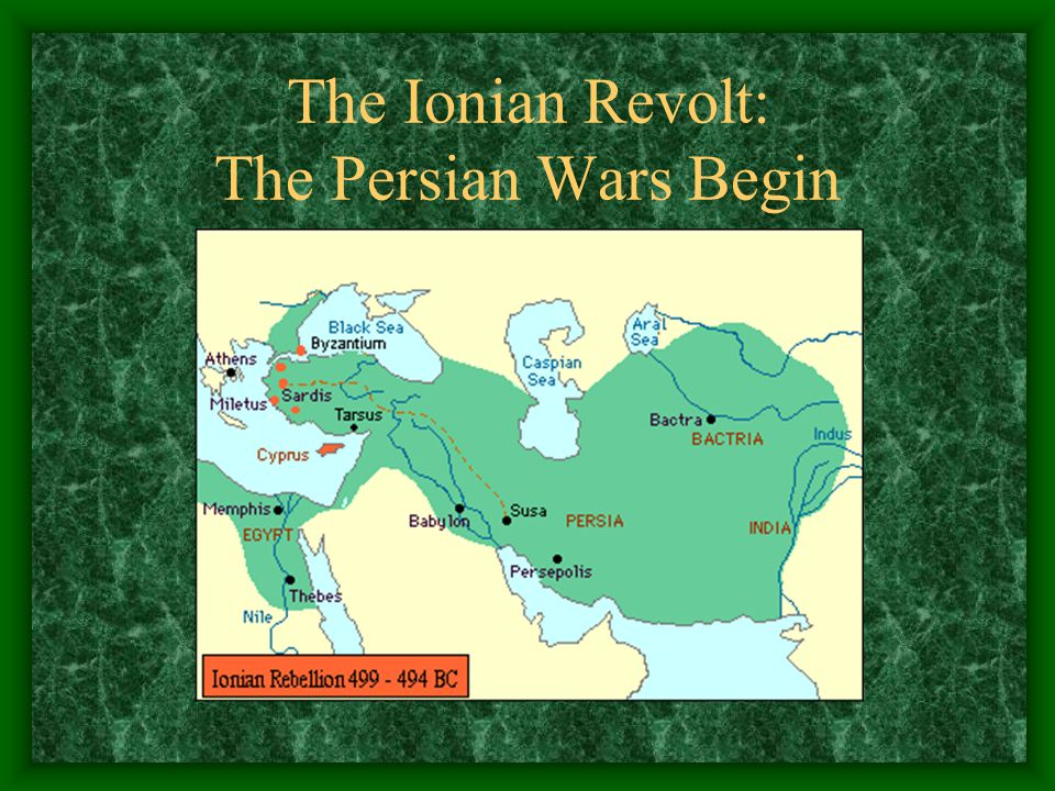 The Ionian Revolt: The Persian Wars Begin