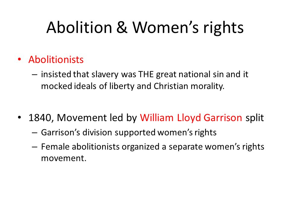 Abolition & Women's rights