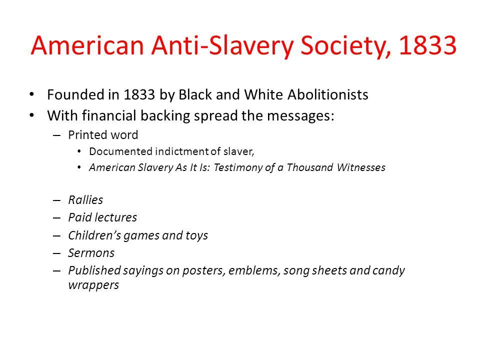 American Anti-Slavery Society, 1833
