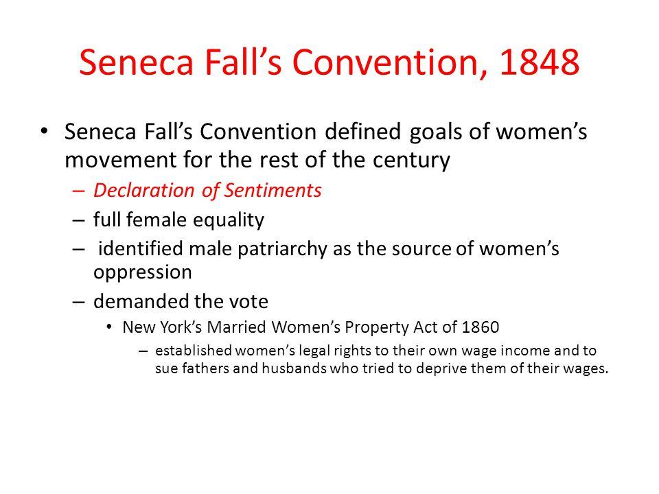 Seneca Fall's Convention, 1848