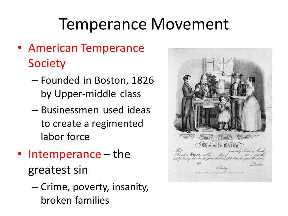 Temperance Movement American Temperance Society