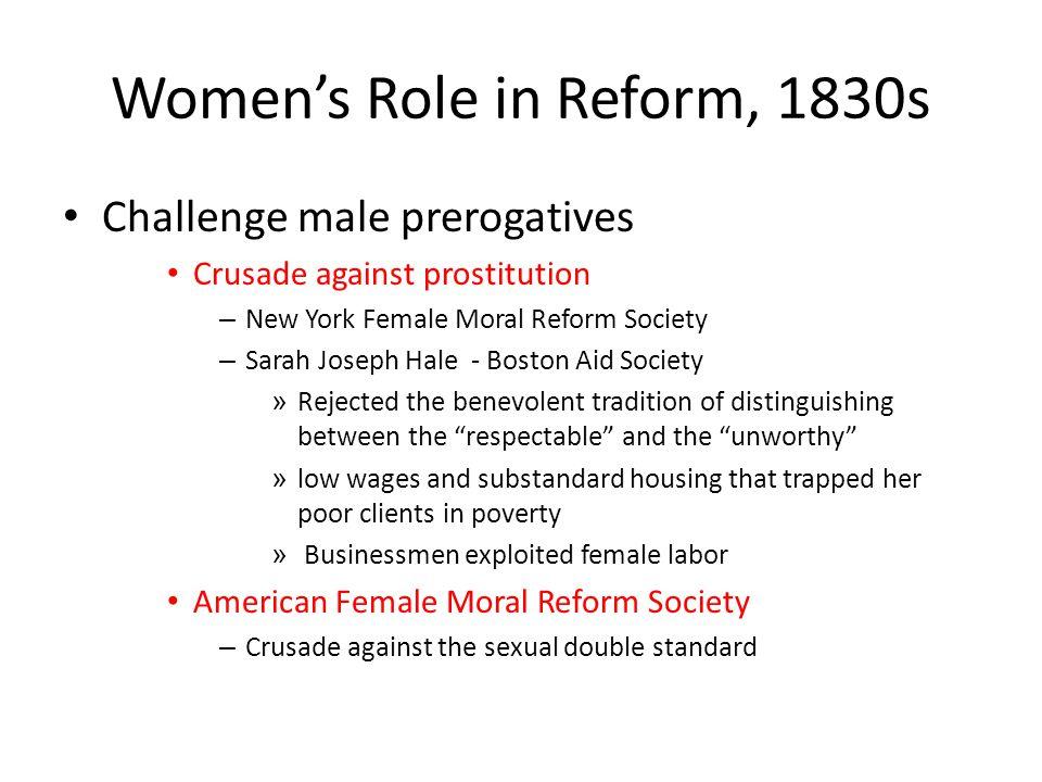 Women's Role in Reform, 1830s