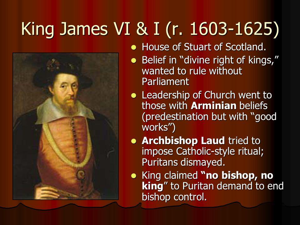 King James VI & I (r. 1603-1625) House of Stuart of Scotland.