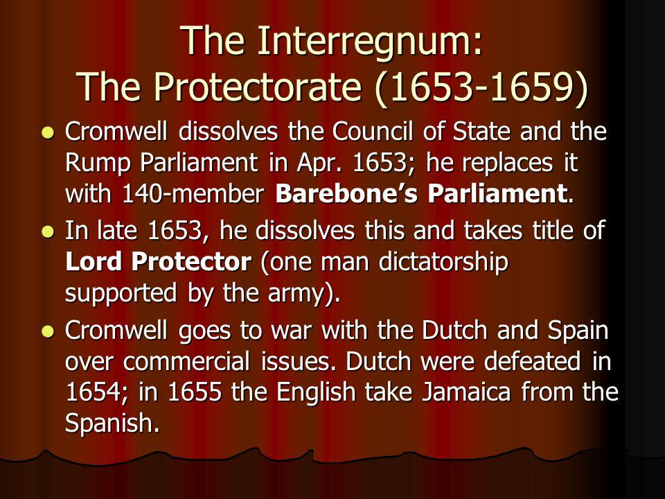 The Interregnum: The Protectorate (1653-1659)