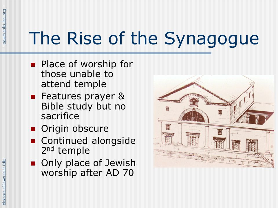 The Rise of the Synagogue