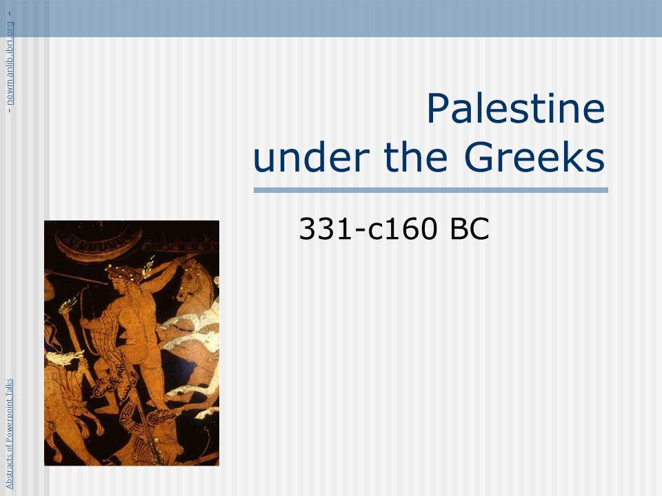 Palestine under the Greeks