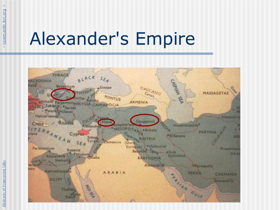 Alexander s Empire - newmanlib.ibri.org -