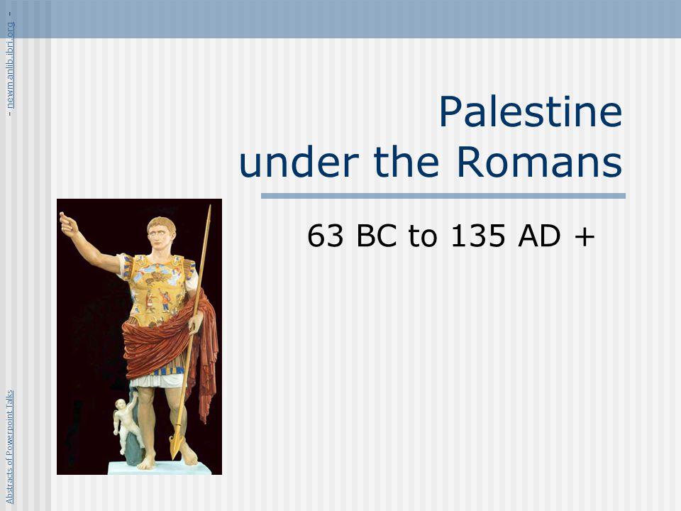 Palestine under the Romans