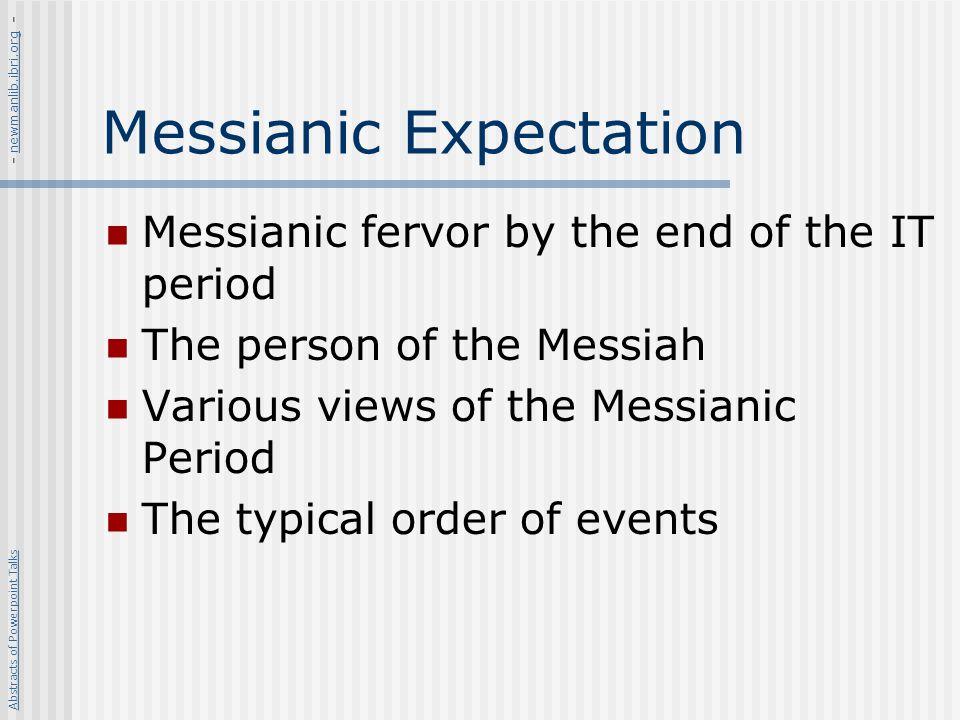 Messianic Expectation