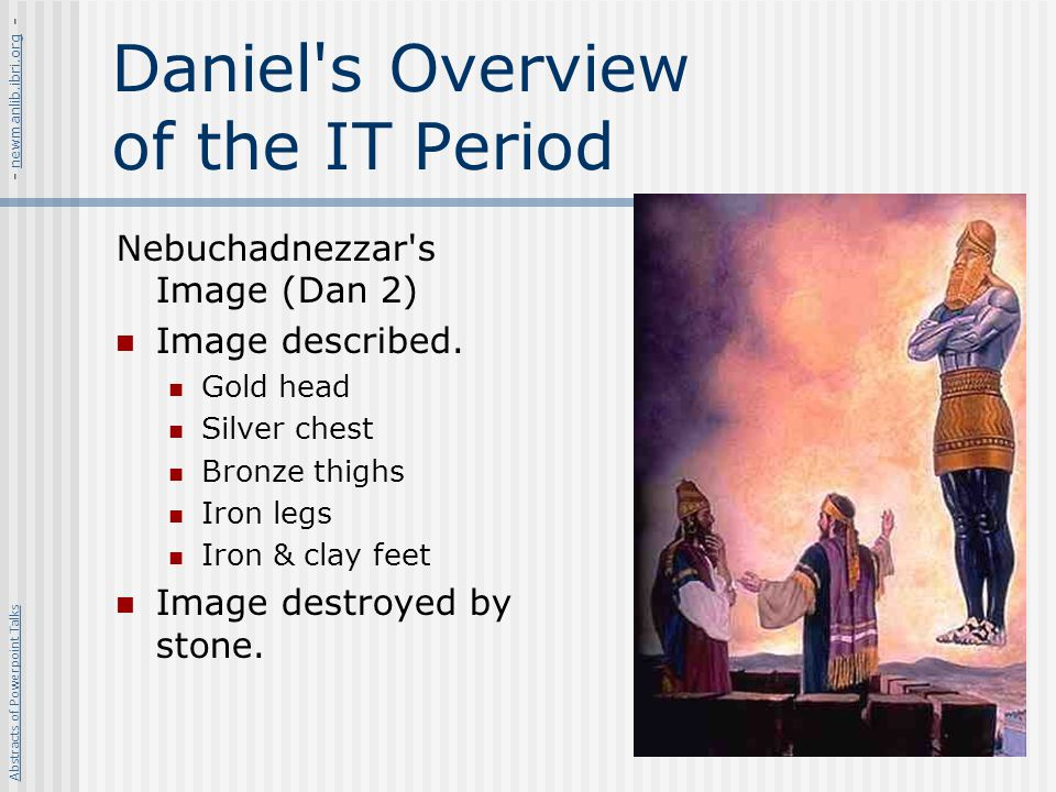 Daniel s Overview of the IT Period