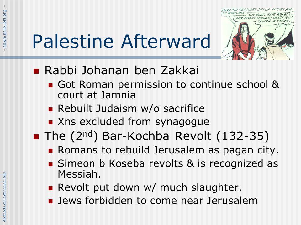 Palestine Afterward Rabbi Johanan ben Zakkai