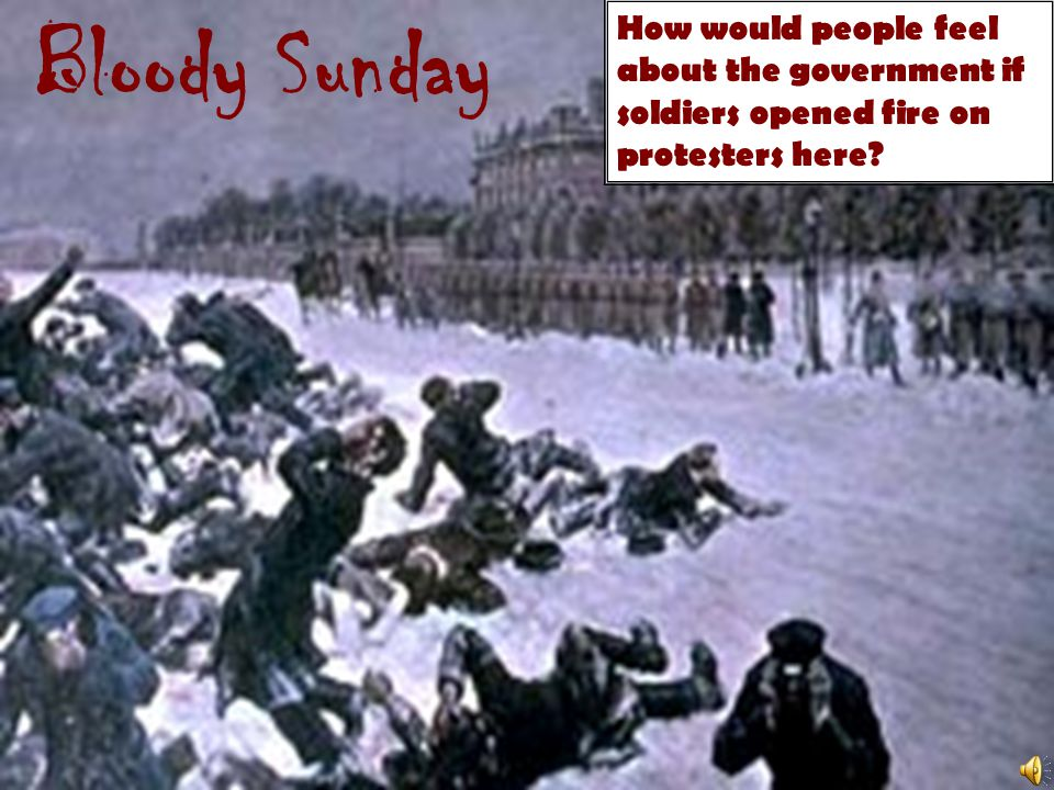 Bloody Sunday How would people feel about the government if soldiers opened fire on protesters here