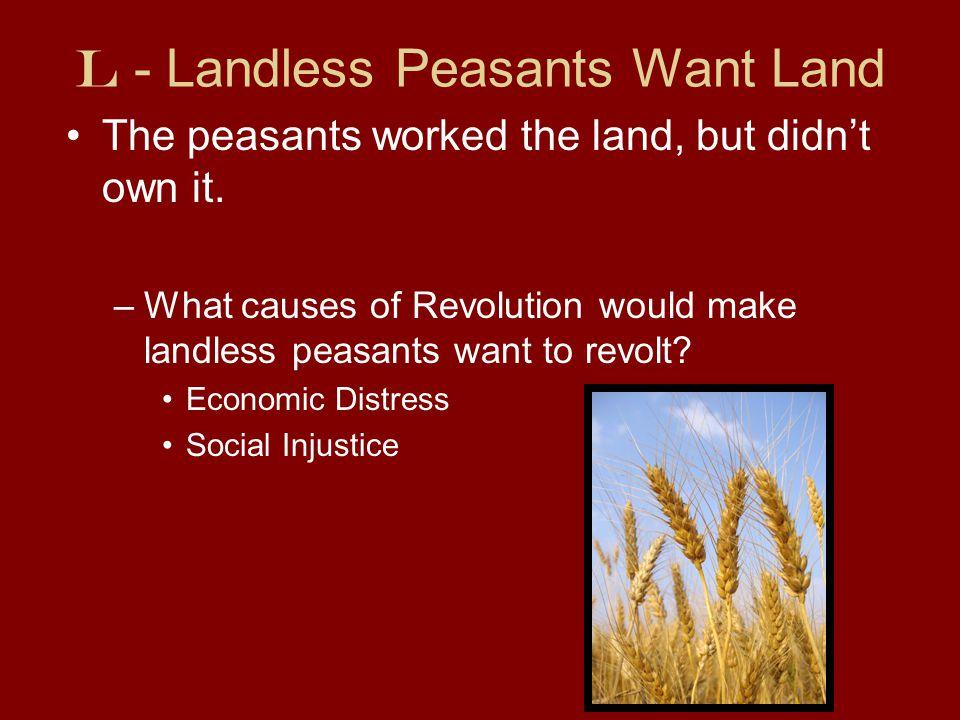L - Landless Peasants Want Land