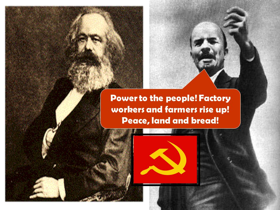 Power to the people. Factory workers and farmers rise up