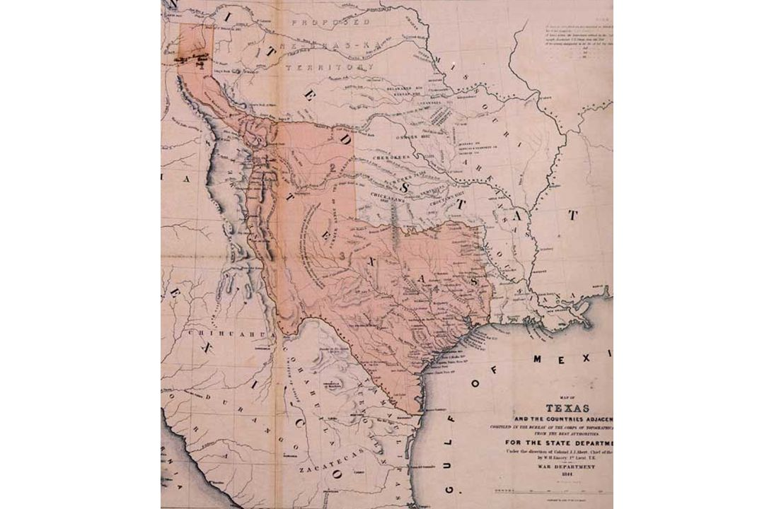 * 1835: Santa Anna moves north at the head of some 6,000 troops.