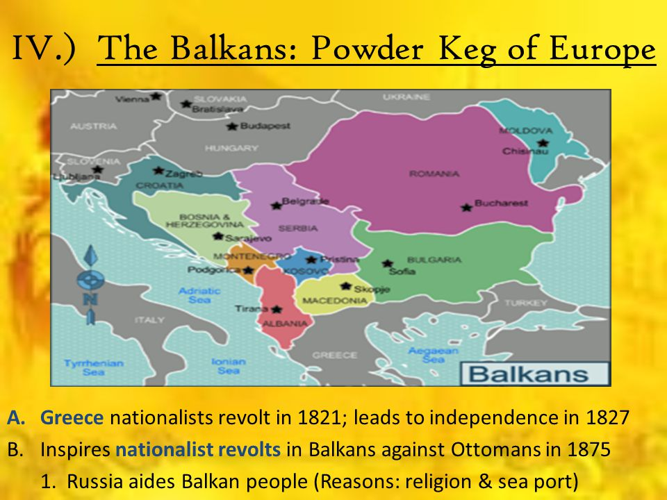 IV.) The Balkans: Powder Keg of Europe