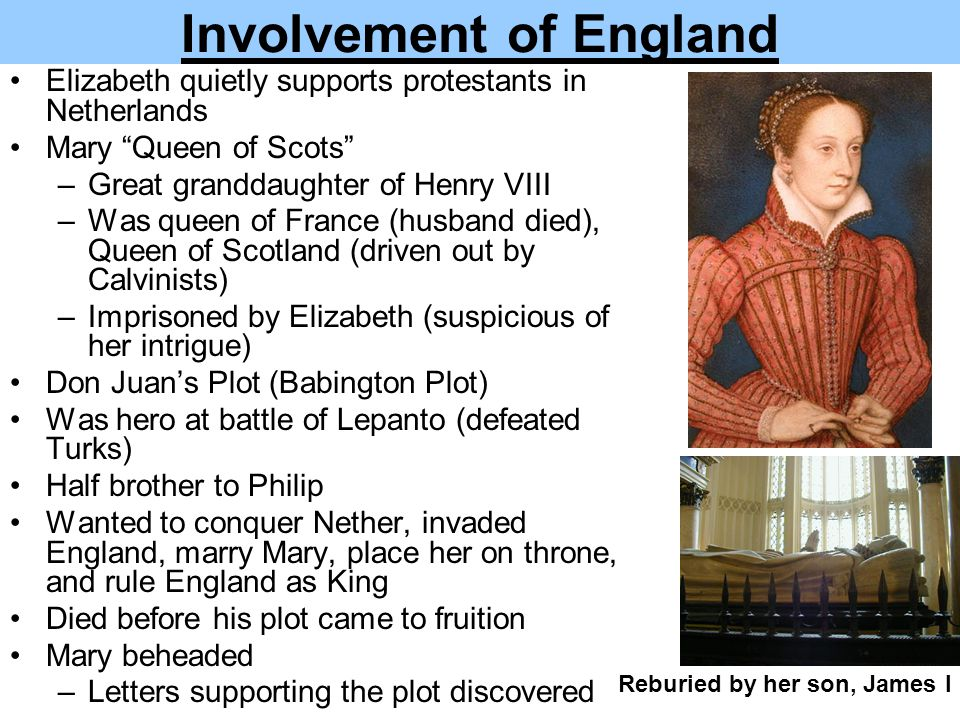 Involvement of England