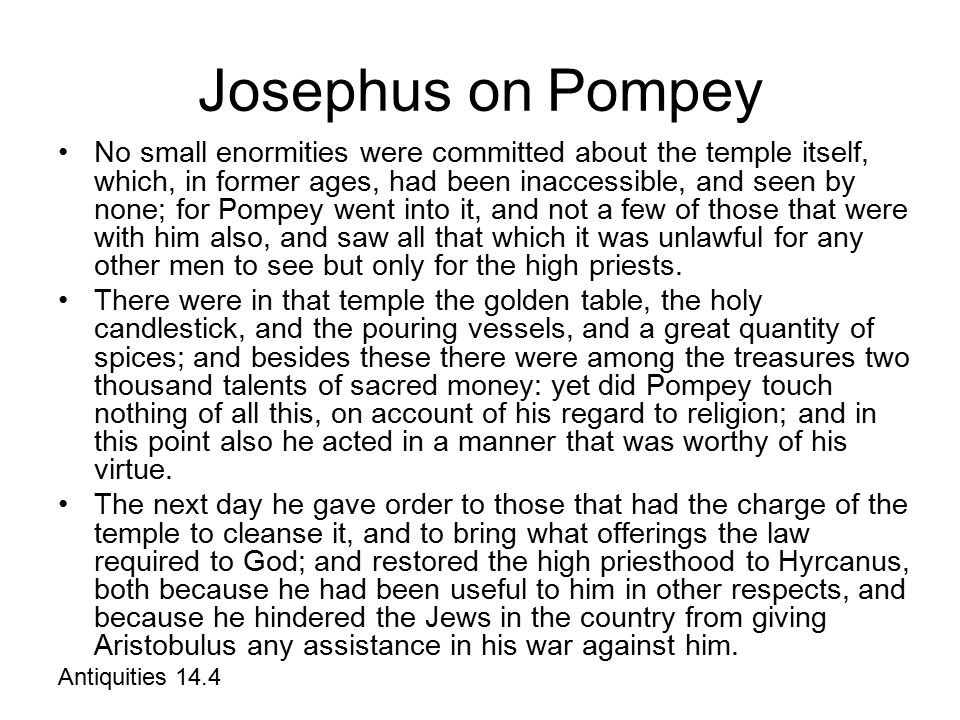 Josephus on Pompey