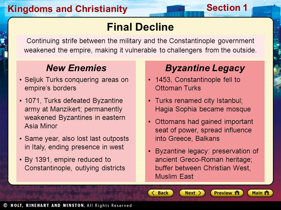 Final Decline New Enemies Byzantine Legacy