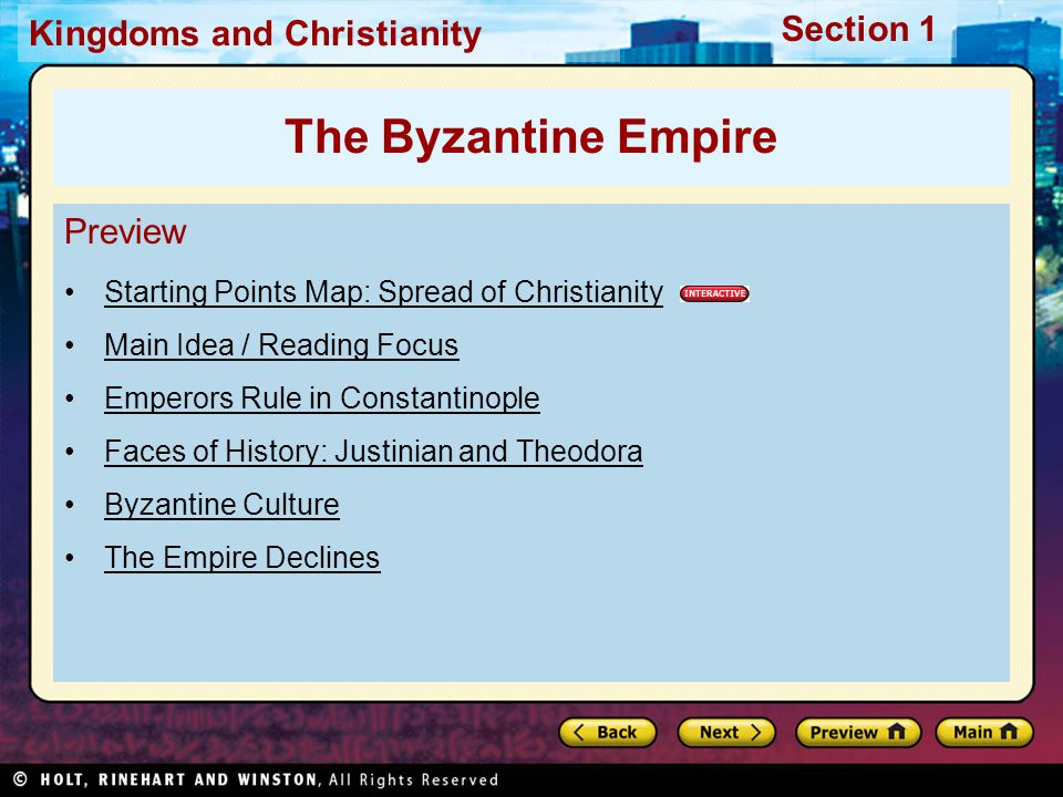 The Byzantine Empire Preview