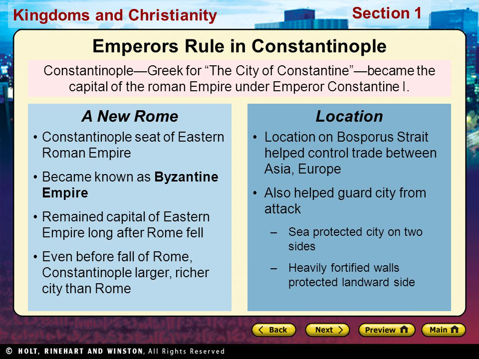 Emperors Rule in Constantinople