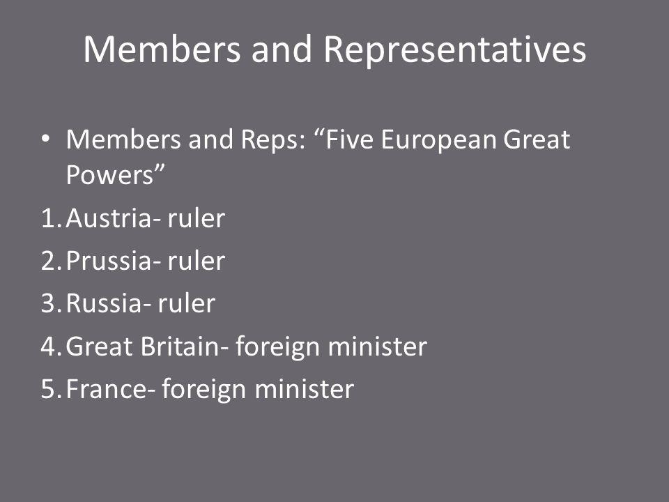 Members and Representatives