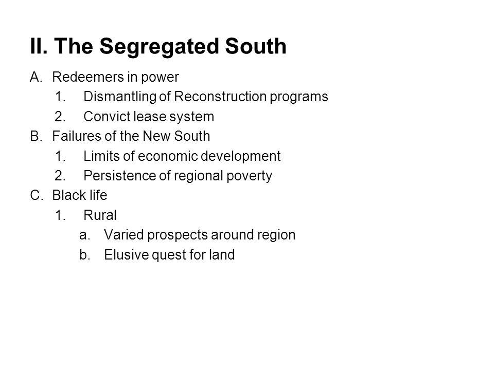 II. The Segregated South