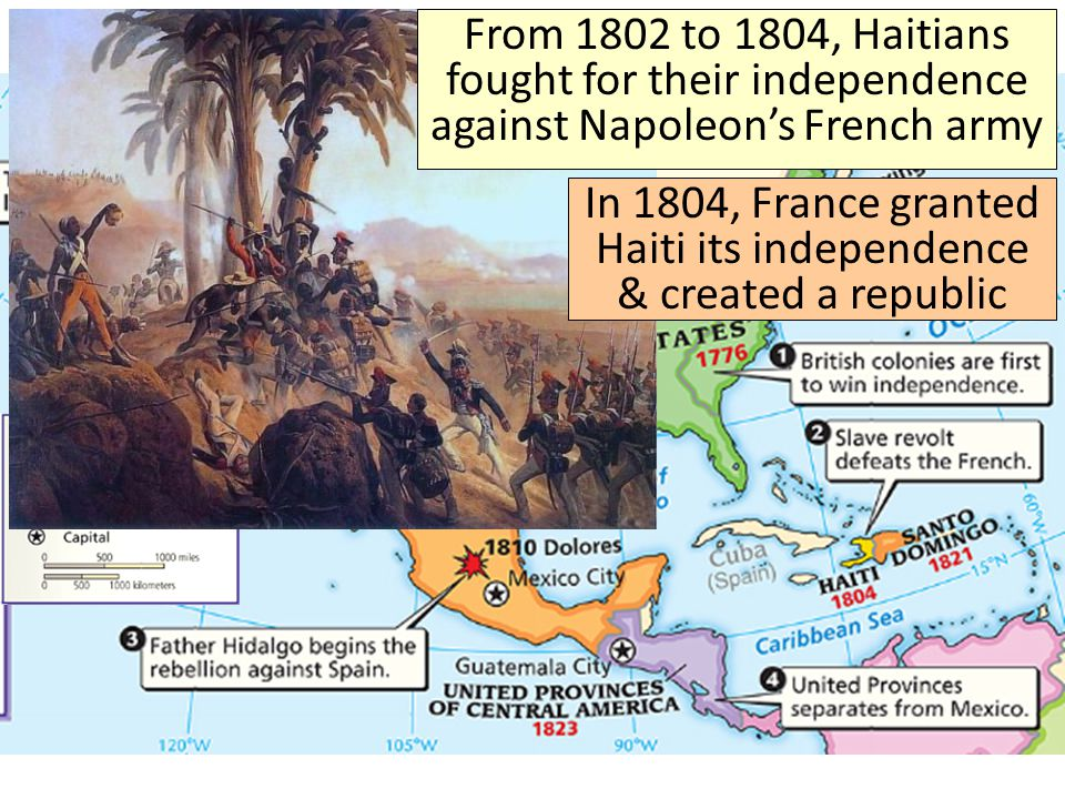 In 1804, France granted Haiti its independence & created a republic