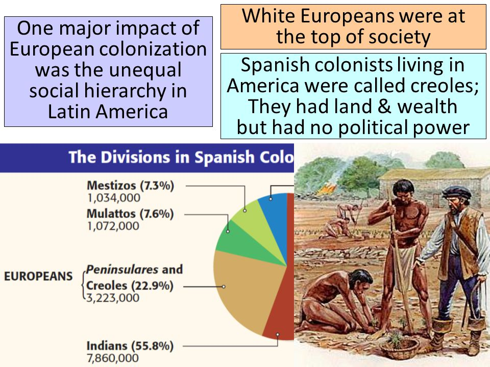 White Europeans were at the top of society